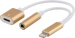Epzi Lightning - 3,5mm Adapter + Lightning - Guld N76-5