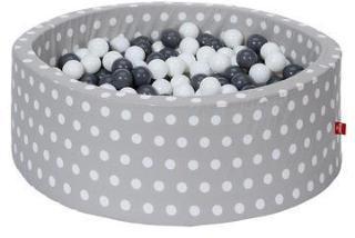 knorr® leker ballbad mykt - Gråhvite prikker inkludert 300 baller grå / krem