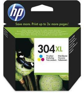 HP Blekkpatron No.304XL 3-Farge Høykapasitet (7ml) N9K07AE (Kan sendes i brev)