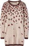 Scotch & R'belle Finstrikket mønstret kjole  Beige