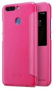 Huawei Honor 8 Pro Nillkin Sparkle Smart View Flip-deksel - Varm Rosa