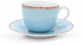 Espresso kopp/skål Blå  Bloomingtailes Pip  120ml. porselen med gull