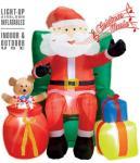 Widmann Oppblåsbar julenisse i stol - Jul