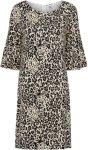 Saint Tropez Kjole Animal Jersey Dress Women Stone