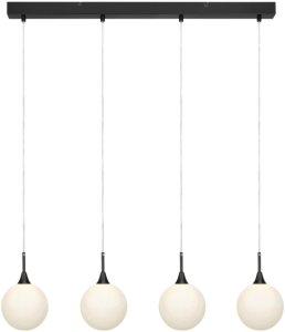 Markslöjd Taklampe QUATTRO XL, metall Unisex Svart/hvit