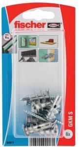 Fischer Gipsplateplugg driva 1-12mm gkm s bk 6 stk pr bk nv Fischer