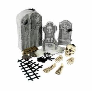 Halloween dekorasjonspakke kirkegård - 24 deler