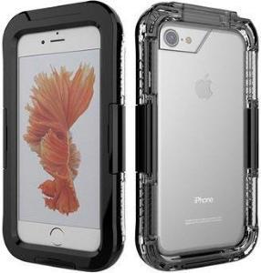 iPhone 7/8/SE (2020) Vanntett Mobilpose - Svart