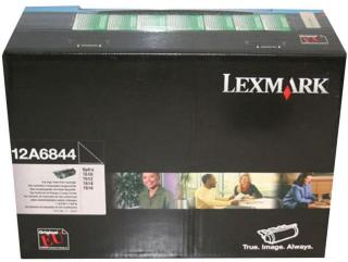 LEXMARK svart - original - tonerpatron - Lexmark Corporate (12A6844)