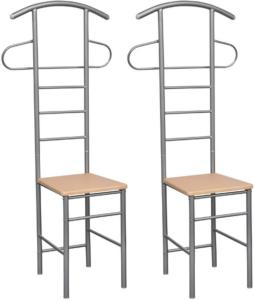 vidaXL Klesstativ med stol 2 stk metall