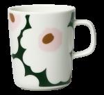 Unikko krus 2,5 dl hvit/grønn/rosa Marimekko
