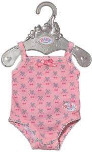 BABY Born Body 43 cm - rosa, mønstret body til dukke