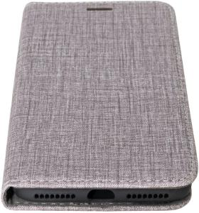 IIGLO iPhone 7 Plus/8 Plus  fabric wallet fabric PU wallet case grey (IICI032)