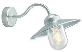 Norlys Karlstad Vegglampe Galvanisert, Klart glass