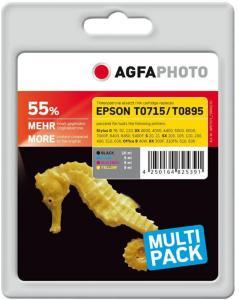 AGFAPHOTO 4-pack - svart, gul, cyan, magenta - blekkpatron (alternativ for: Epson T0894, Epson T0892, Epson T0891, Epson T0893, Epson T0715, Epson T0711, Epson T0712, Epson T0713, Epson T0714, Epson..