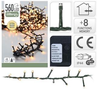Mikro-lysslynge med 560 LED-lys extra warm white extra warm white 560 lys andre merkevarer