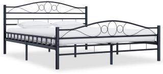 Sengeramme svart stål 200x200 cm -