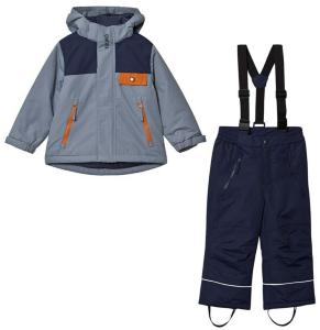 Kuling Aspen Ski Set Flintstone Blue/Autumn Orange