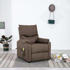 Massasjestol i stoff -brun