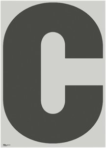 Playtype Poster C-ABC 70x100 cm Unisex Lys grønn / svart