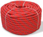vidaXL Båttau polypropylen 6 mm 500 m rød