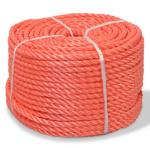 vidaXL Vridd tau polypropylen 6 mm 500 m oransje