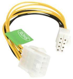 StarTech EPS 8 Pin Power Extension Cable - Power extension cable - 8 pin EPS12V (F) to 8 pin EPS12V (M) - 7.9 in - EPS8EXT - strømforlengelseskabel - 20 cm (EPS8EXT)