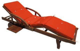 Pute til solseng - 196 cm - Oransje
