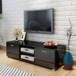 vidaXL TV-skjenk høyglans svart 140x40,3x34,7 cm