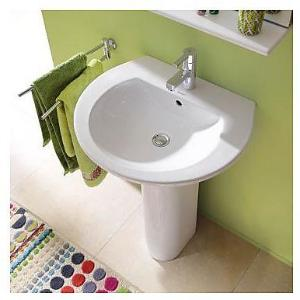 Duravit Darling New Vegghengt Servant 600x 520 mm, 3 blanderhull, Wondergliss