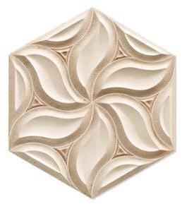 Dekor Hexagon Habitat Lys Beige 29x33 cm