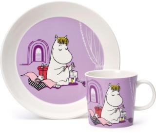 Arabia Snorkfrøken sett med tallerken og kopp