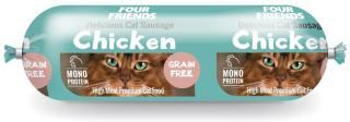 FourFriends kylling pølse til katt 200 g
