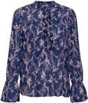 SAINT TROPEZ Spring Love P Shirt Bluse Langermet Blå SAINT TROPEZ