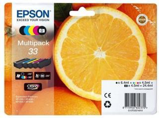 Epson 33 Multipack - 5 pakker - sort gul cyan magenta foto-sort - original - blækpatron - Blekkpatron Svart C13T33374021