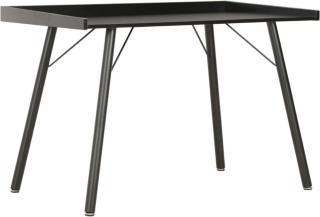 vidaXL Skrivebord svart 90x50x79 cm