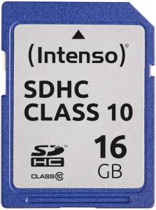 INTENSO Memory card SD 16GB Intenso (3411470)