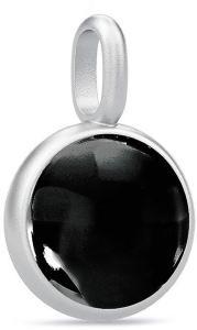 Julie Sandlau Prime Pendant - Rhodium/Black Halskjede Anheng Svart Julie Sandlau Women
