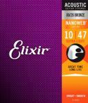Elixir Nanoweb ak.gitar 6str. X Light (010-047) 11002