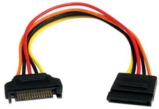 StarTech.com 15 pin SATA Power Extension Cable - power extension cable - 20.3 cm SATAPOWEXT8