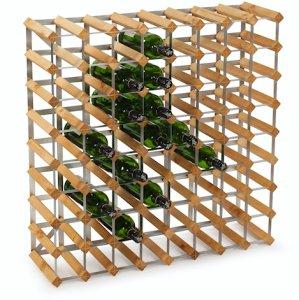 Traditional Wine Racks 72 Flaskers Påbyggnadsstativ Lys Eik