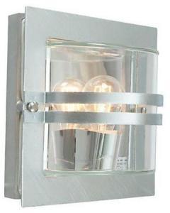 Norlys Bern Vegglampe Galvanisert, Klart glass