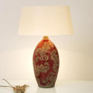Bordlampe Toulouse rund, høyde 65 cm, rød