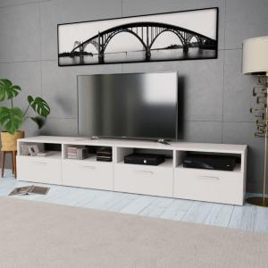 vidaXL TV-benk 2 stk sponplater 95x35x36 cm hvit
