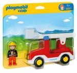 Playmobil 1-2-3 Brannbil med stige 6967