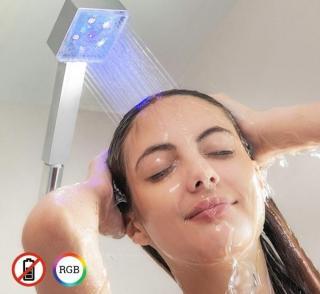 Dusjhode med LEDlys sensor