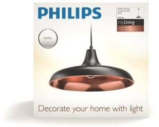 Philips Surrey pendant black 1x40W 230 | Billig