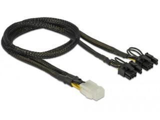 DELOCK PCI Express power cable 6 pin female > 2 x 8 pin male 30 cm (85455)