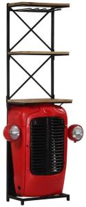Be Basic Traktor-vinskap 49x32x183 cm heltre mango -