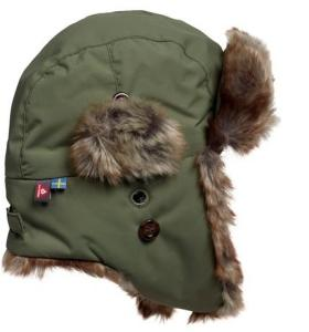Isbjörn Squirrel Winter Cap Moss (#6B7059) 48/50cm